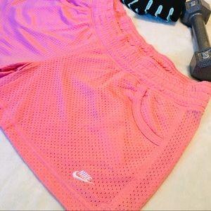 ➕💕Nike Pink Running Shorts EUC Size XL Sportswear